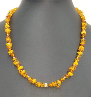 Baltic Amber honey & butterscotch, 14KYG necklace.