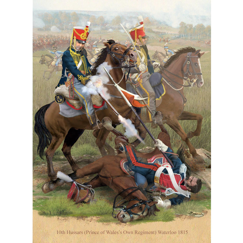10th Hussars, Waterloo 1815
