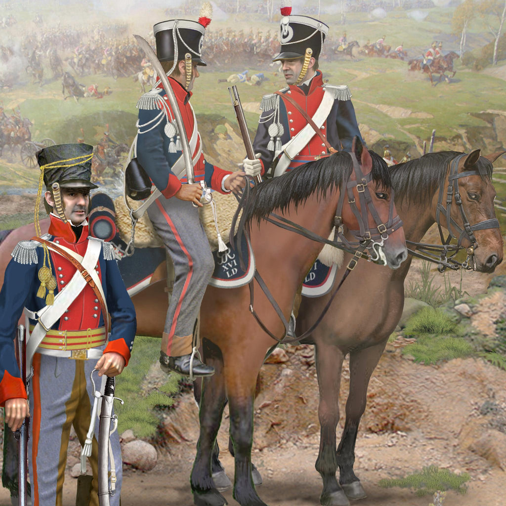 16th QUEEN'S REGIMENT OF LIGHT DRAGOONS, Waterloo 1815