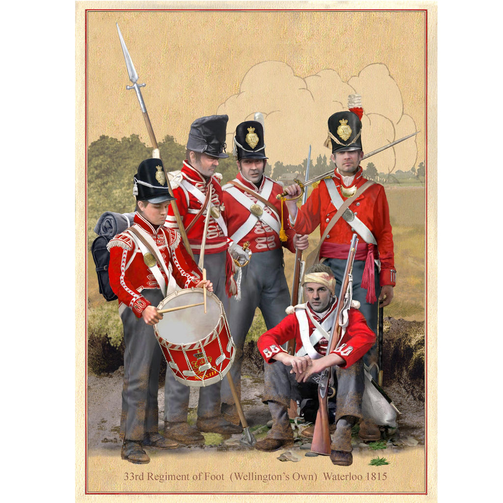 33rd Regiment of Foot - Waterloo 1815
