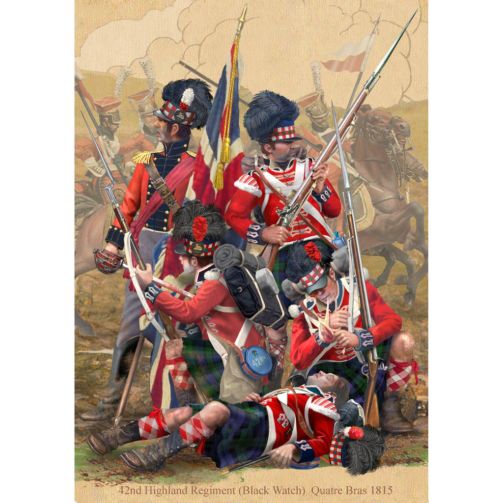 42nd HIGHLAND REGIMENT, THE BLACK WATCH - Waterloo 1815