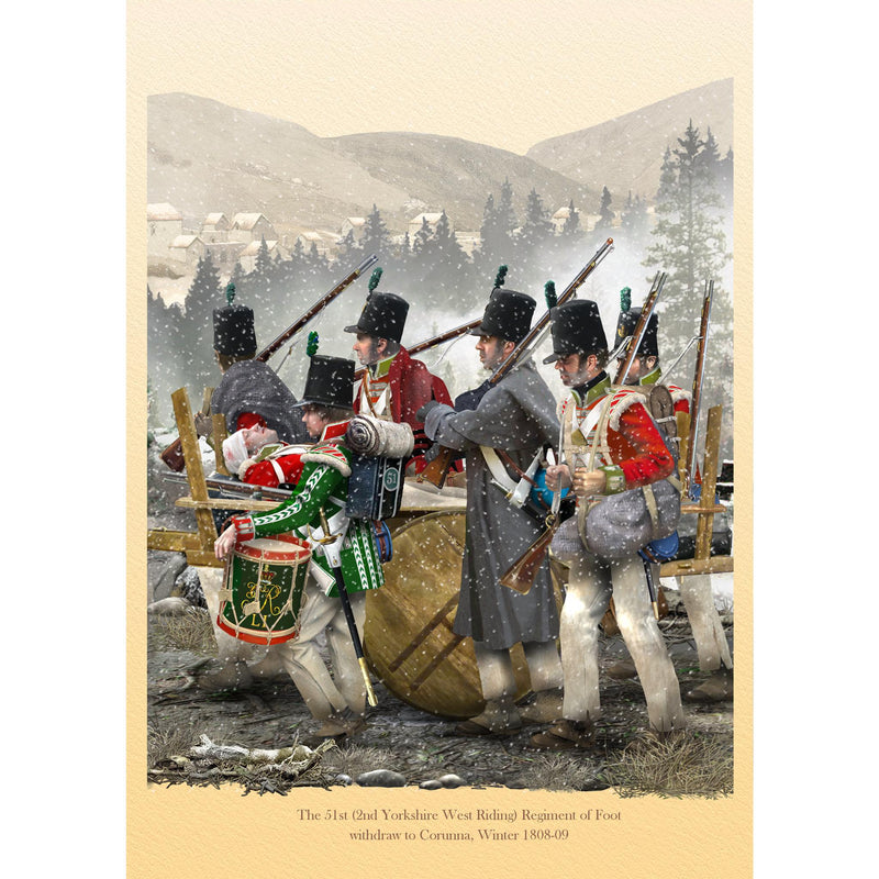 The 51st (2nd Yorkshire West Riding) Regiment of Foot Corunna, Winter 1808-09