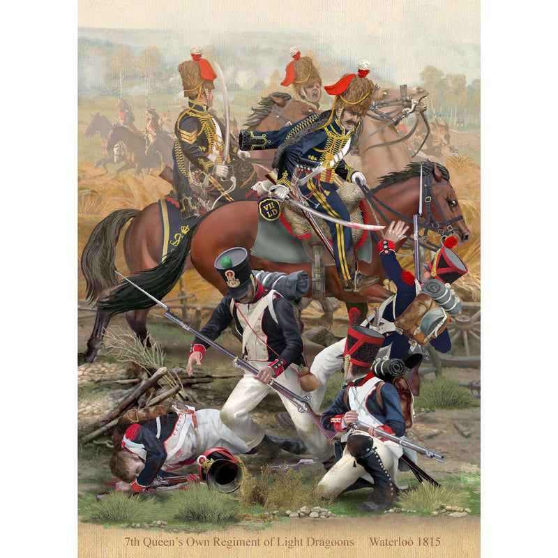7th Queen's Own British Regiment of Light Dragoons, Waterloo, 1815