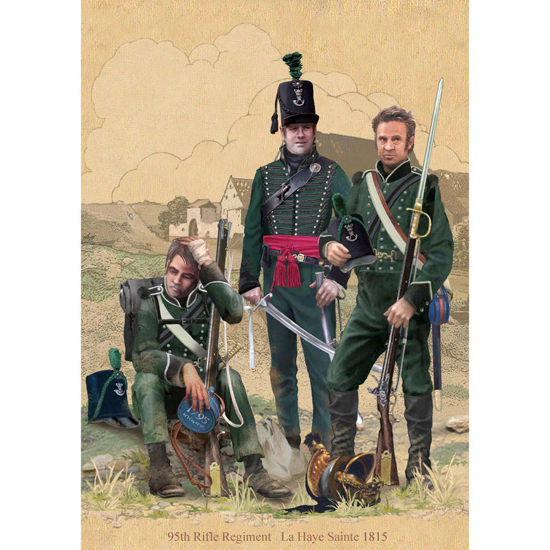 95th Rifles - Le Haye Sainte, 1815 - Print