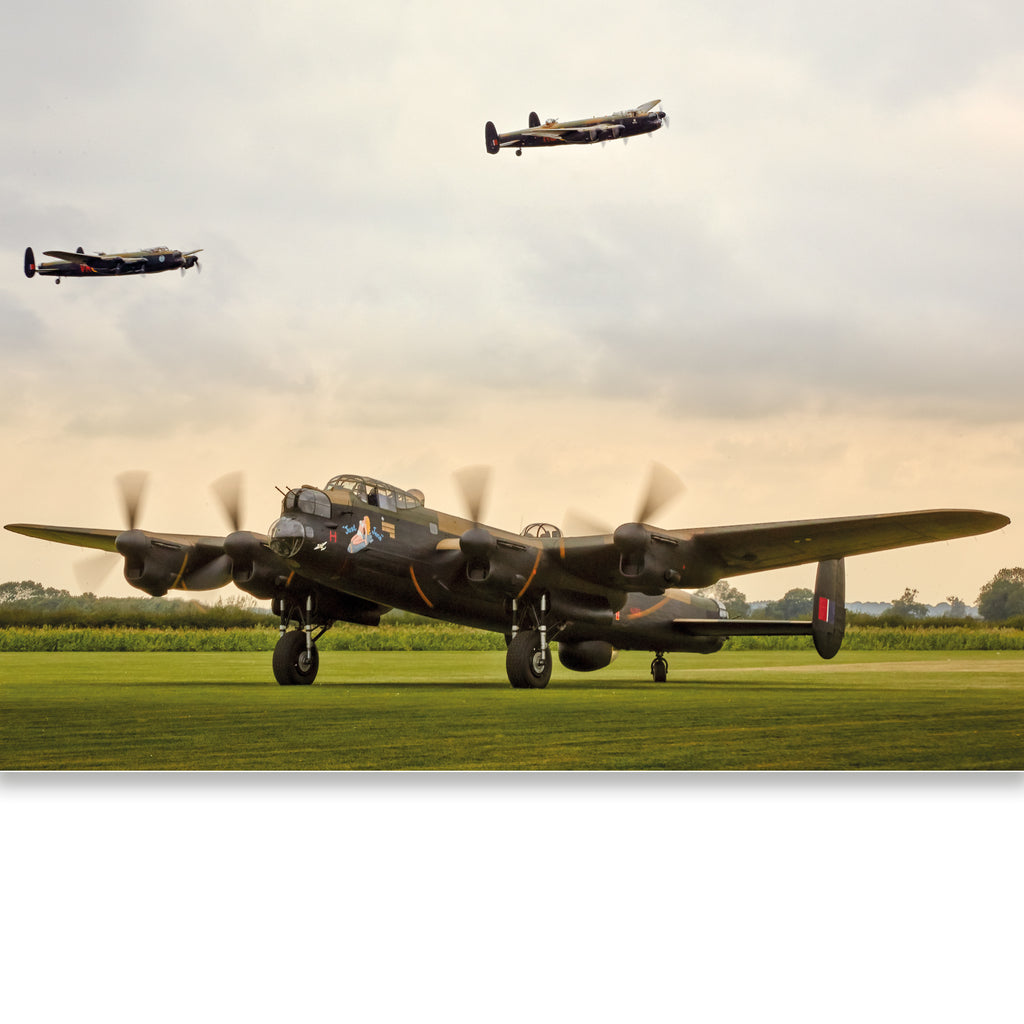 Three Avro Lancasters