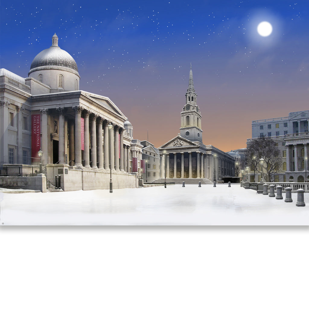 NATIONAL GALLERY, Trafalgar Square - Winter Moonlight