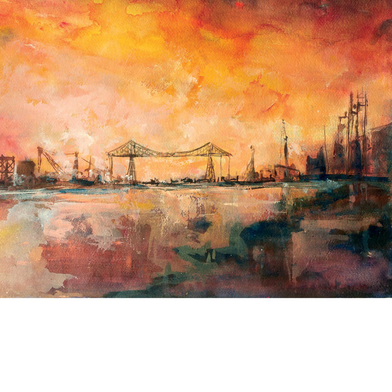 Transporter Bridge - Greetings Card