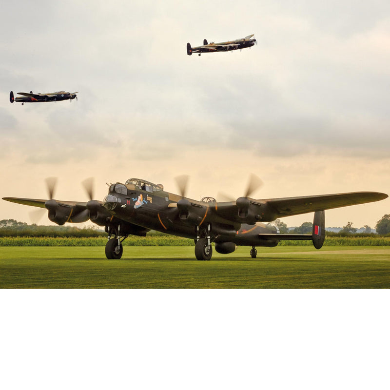 Three Lancaster Bombers - Greetings Card