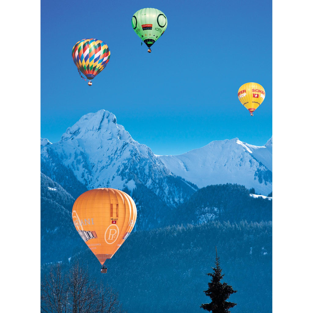 HOT AIR BALLOONS, Chateaux d'Oex, Switzerland - Greetings Card