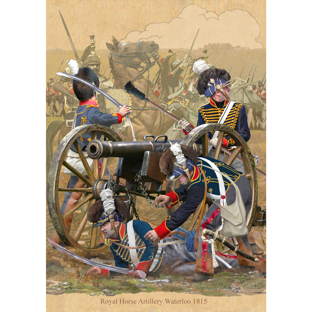 The ROYAL HORSE ARTILLERY, Waterloo 1815