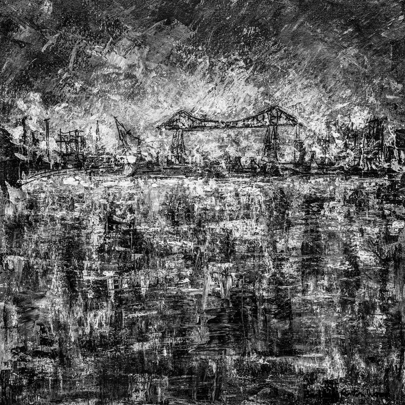 Transporter Bridge, River Tees - Monochrome No.2