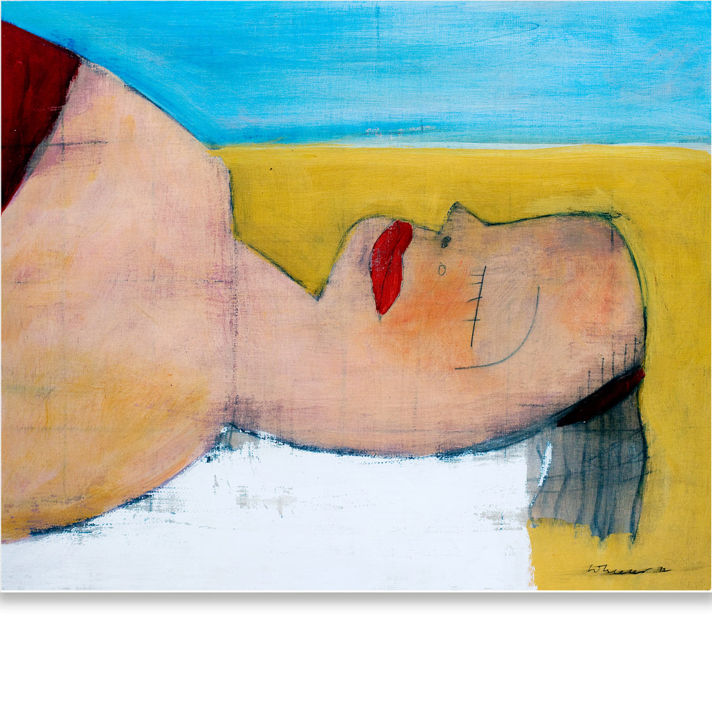 RECLINING FIGURE ON BEACH