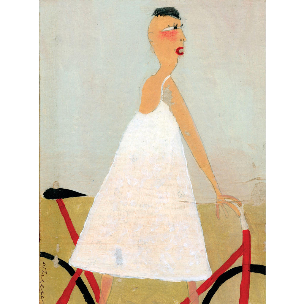 FIGURE IN WHITE - Girl on a Bicycle