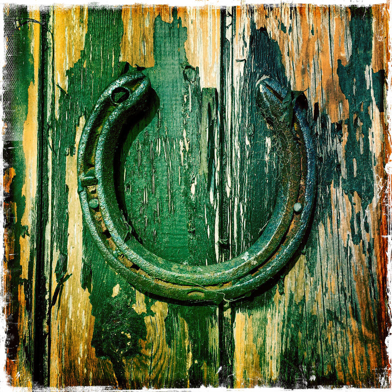 GOOD LUCK STILL NAILED ON OLD STABLE DOOR