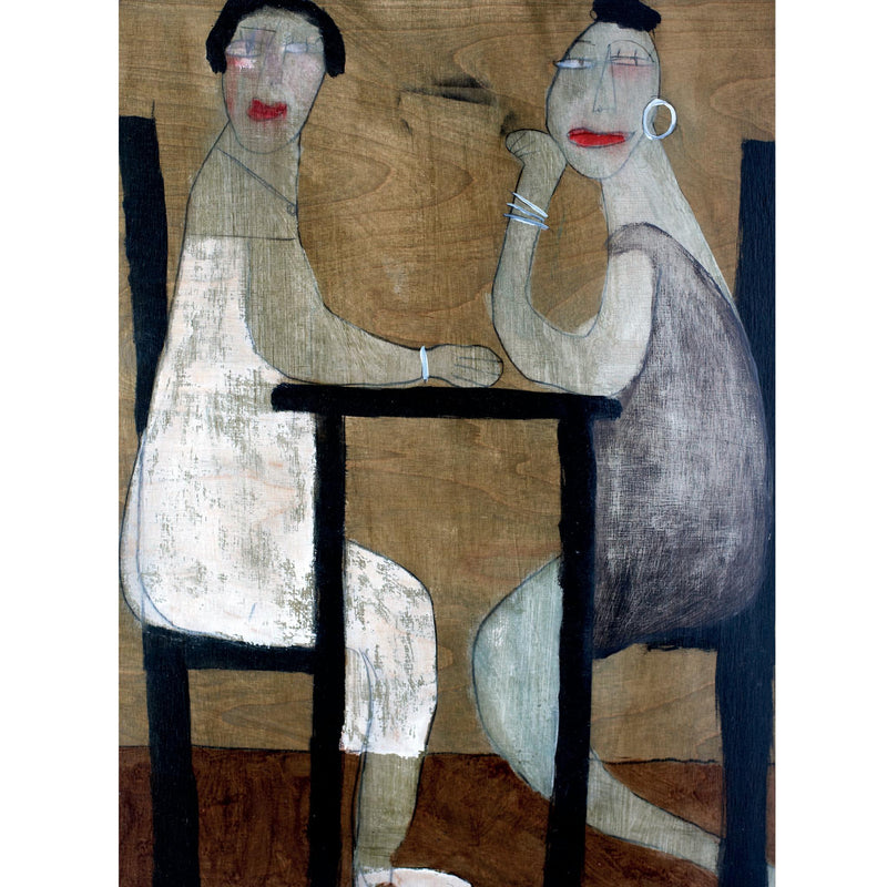 Seated Couple - Greetings Card