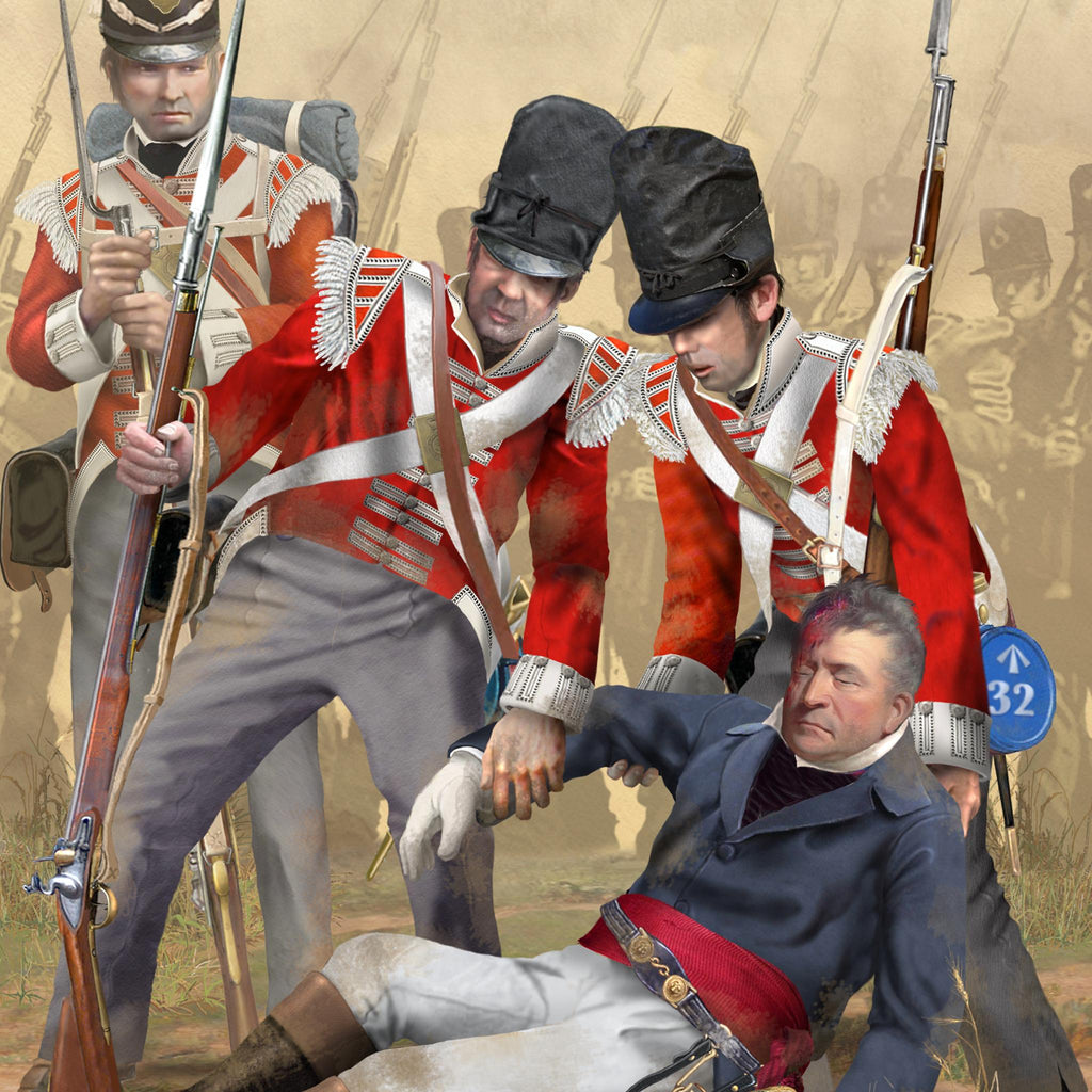 LIEUTENANT-GENERAL THOMAS PICTON & 32nd Regiment of Foot, Waterloo 1815