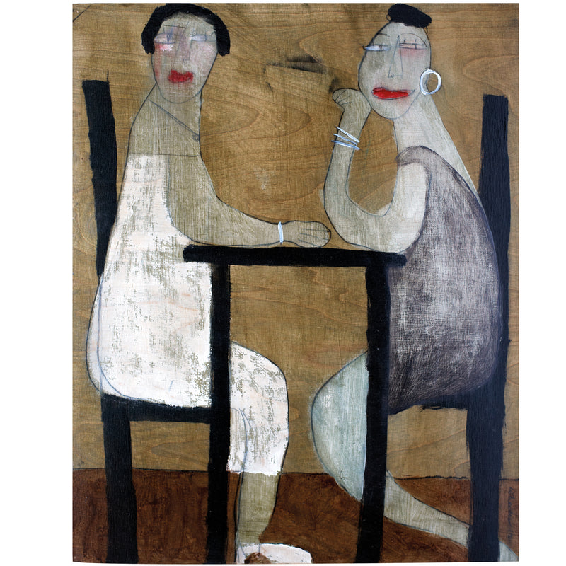 Seated Couple in Café