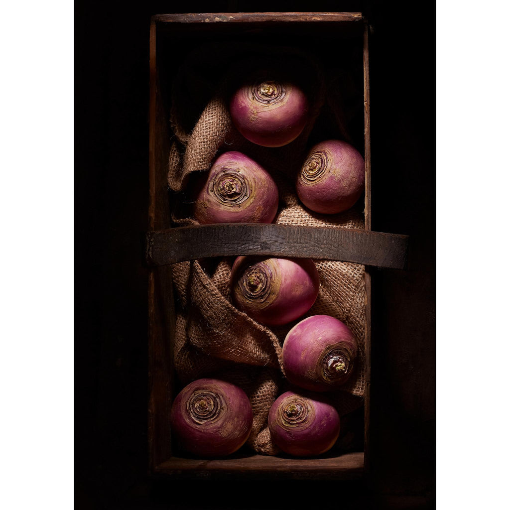 DARK BOX with WHITE TURNIPS