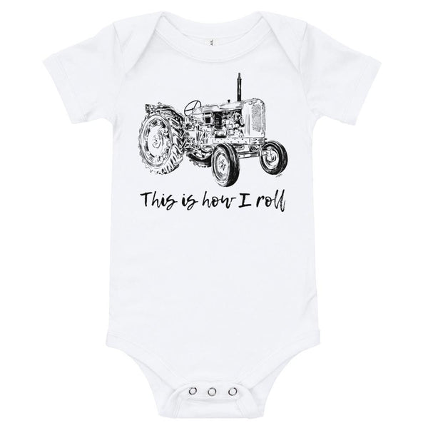 This is How I Roll Tractor Baby Onesie Infant Bodysuit