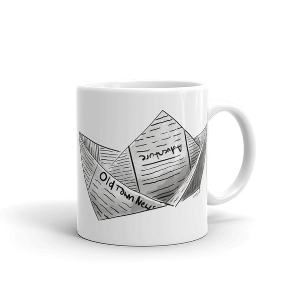Newspaper Boat Mug 11 Oz