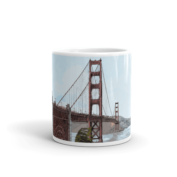San Francisco Golden Gate Bridge Coffee Mug 11 Oz