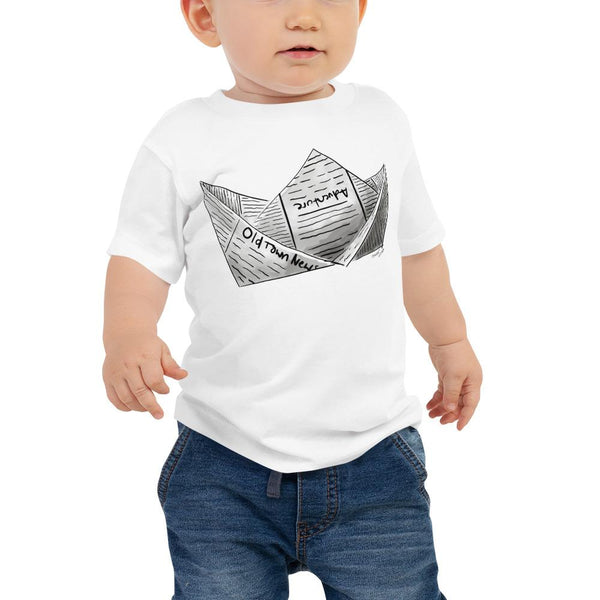 Newspaper Boat Baby Jersey Short Sleeve Tee 6M-24M