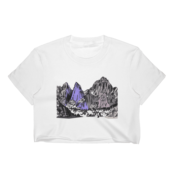 Mountains Mt Whitney Women's Crop Top