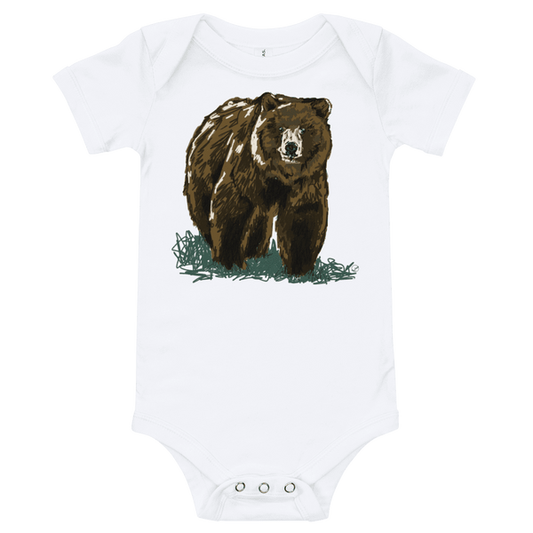 Grizzly Bear Baby Onesie Infant Bodysuit