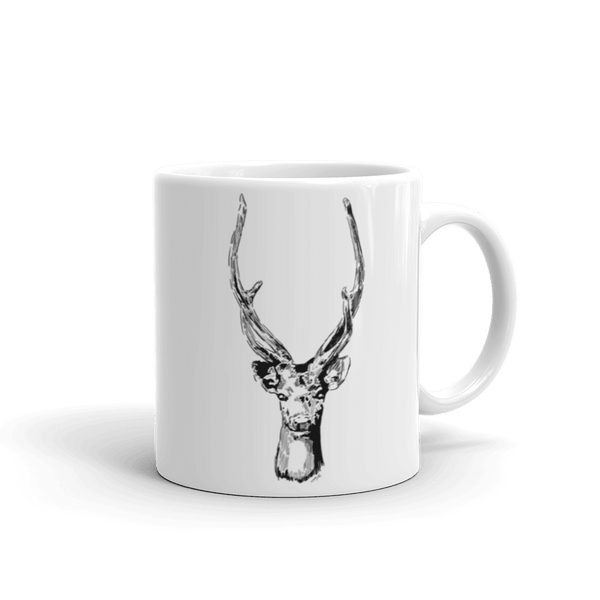 Winter Stag Mug 11 Oz