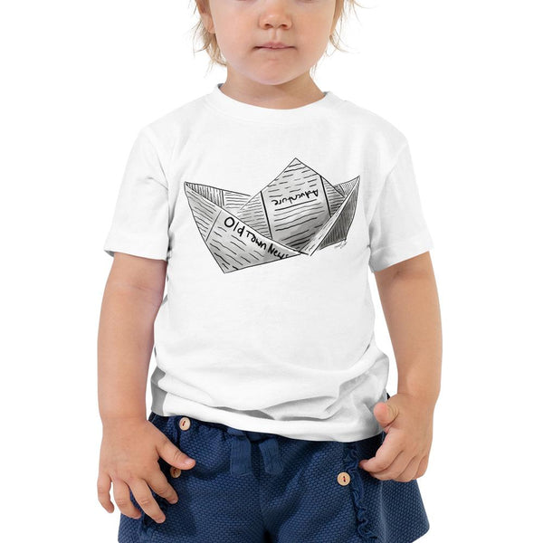 Newspaper Boat Toddler Short Sleeve Tee 2T-5T