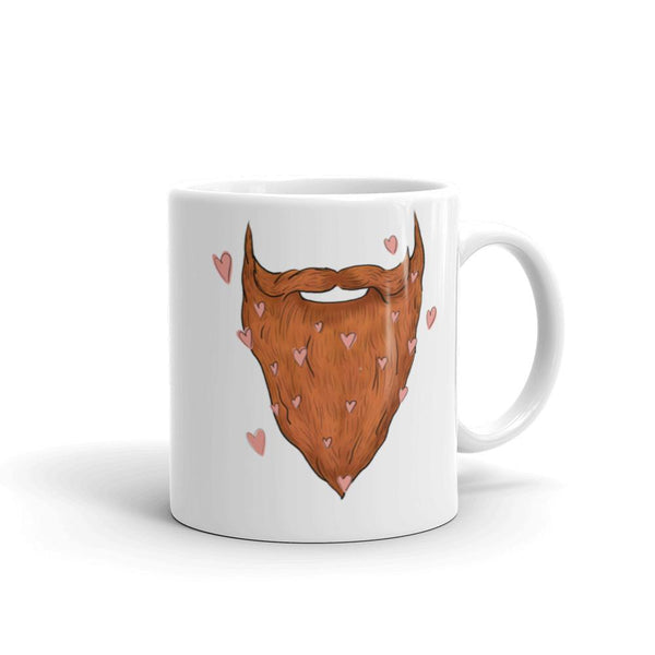 Beard My Valentine Coffee Mug - Red Beard