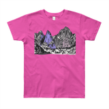 Mountains Mt Whitney Youth Short Sleeve T-Shirt 8yrs-12yrs