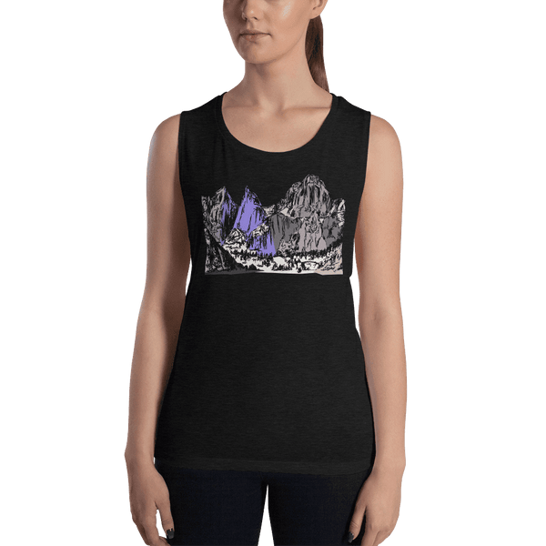 Mountains Mt Whitney Ladies' Muscle Tank
