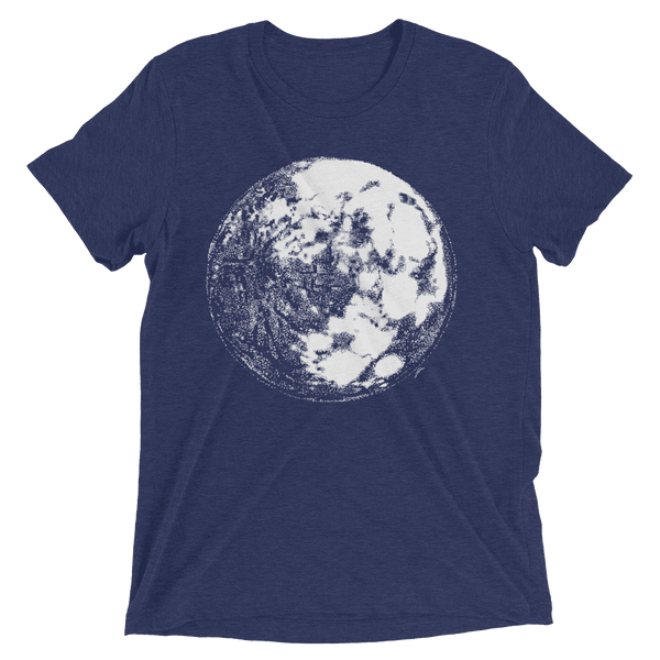 Moon Short sleeve tri-blend t-shirt