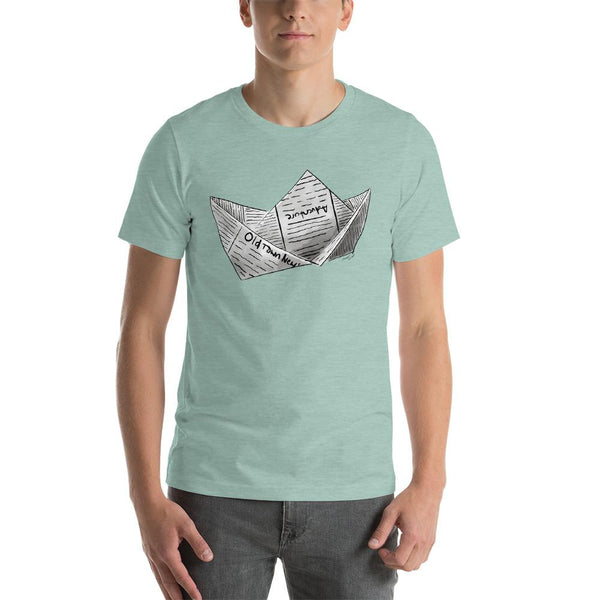 Newspaper Boat Short-Sleeve Unisex T-Shirt