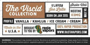 Joe Latte E-Liquid by Rasta Vapors (Vanilla Kahlua Ice-Cream Cream)