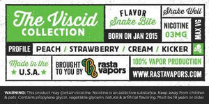 Snake Bite E-Liquid by Rasta Vapors (Peach Srawberry Cream Kicker)