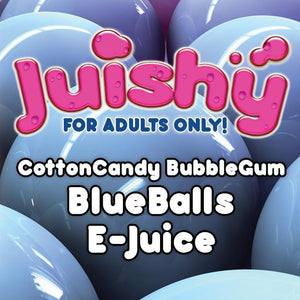 CottonCandy BubbleGum BlueBalls E-Liquid by Juishy E-Juice (100ml)