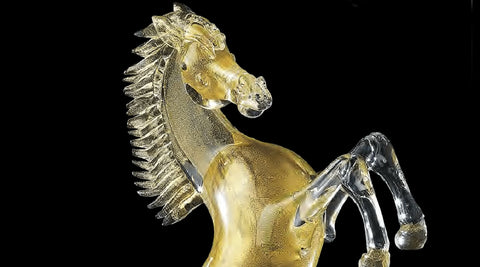 Murano Glass Horses dedicated to horses and their elegance.