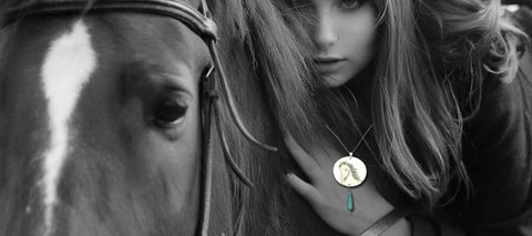 White Horse Necklace. Dedicated to the Horse