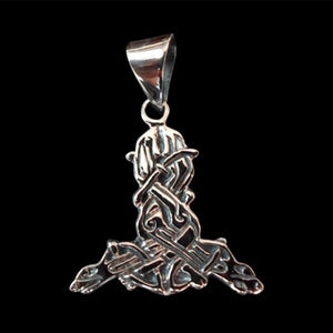 Norse / Viking Hound Dogs Entwined Pendant - Pendant - Big Joes Biker Rings