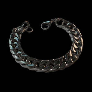 Curb Chain Stainless Steel Bracelet - Bracelet - Big Joes Biker Rings