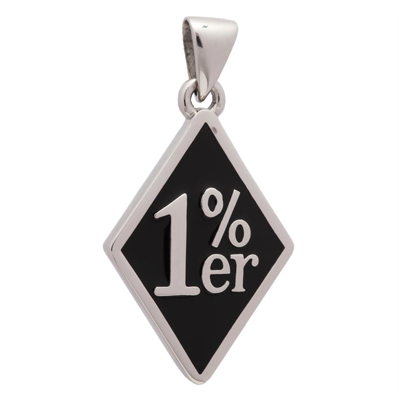1%er Diamond Face Large Pendant