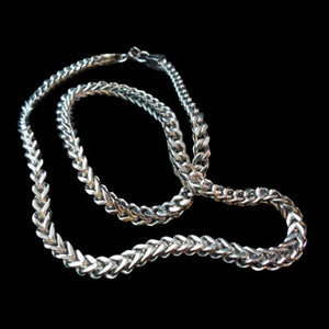 Box Pole Chain Stainless Steel Necklace - Chain - Big Joes Biker Rings