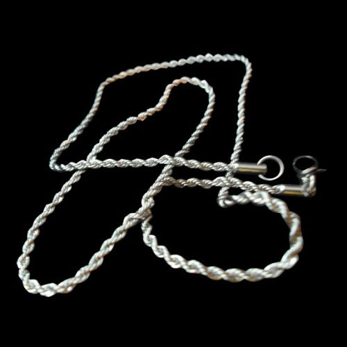 22 inch Small Pendant Chain Stainless Steel Necklace - Chain - Big Joes Biker Rings