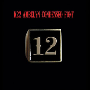 Two Digit Number Square (K22 Ambelyn Font) Bronze Ring - Ring - Big Joes Biker Rings