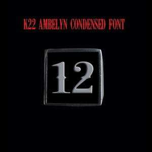 Two Digit Number Square (K22 Ambelyn Font) Stainless Steel Ring - Ring - Big Joes Biker Rings