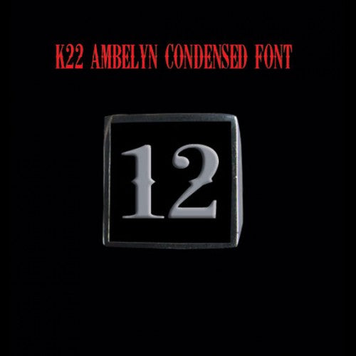 Two Digit Number Square (K22 Ambelyn Font) Sterling Silver Ring - Ring - Big Joes Biker Rings