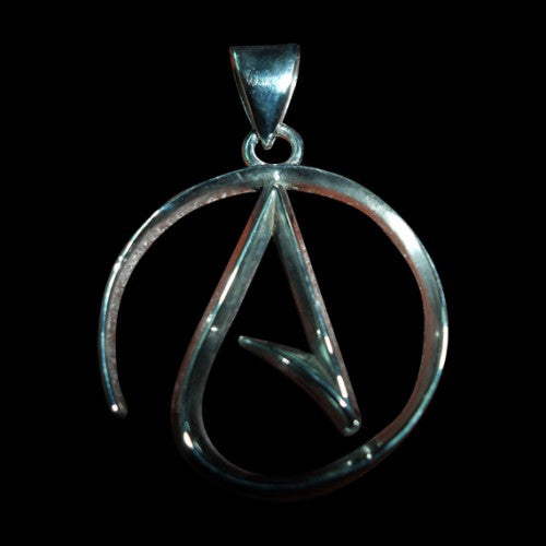 Atheist Ladies Pendant - Pendant - Big Joes Biker Rings