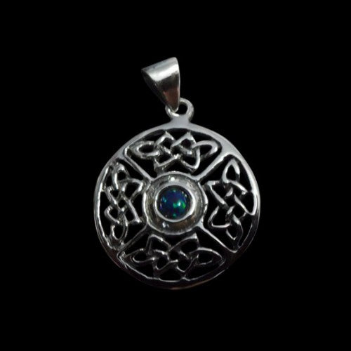 Celtic 4 Knots Round Pendant - Pendant - Big Joes Biker Rings